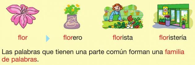 Aprende: familias de palabras, la coma y los dos puntos