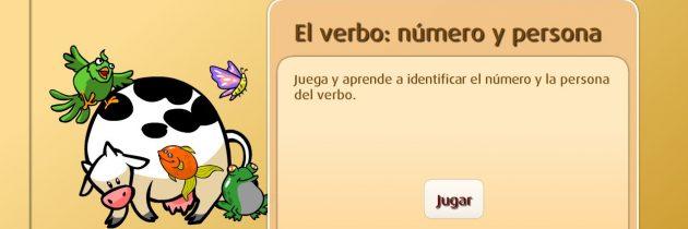Juego: El verbo: Número y persona